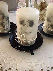 "Svietidlá a sviečky - Vintage sviečka ""Kids Love"" - 5051383_"