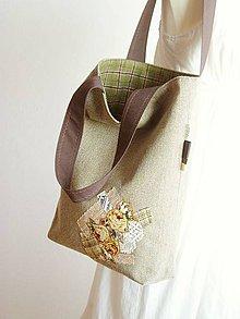 Veľké tašky - Tweed and Tartan...French Tote Bag - 5050069_