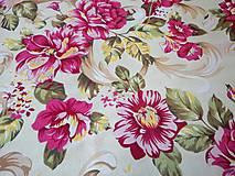 Textil - Bavlna na režnom podklade - cena za 10 cm - 5051754_