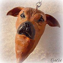 Kľúčenky - Kľúčenka s hlavičkou psa podľa fotografie - 5052309_