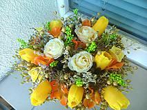 Dekorácie - Jarna dekorácia s tulipánmi  - 5050763_
