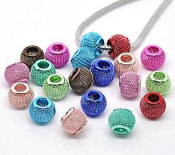 Korálky - Pandorkové korálky kovové (balíček 5ks) - 5050494_