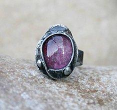 Prstene - Fialové sklo prsteň - 5051543_