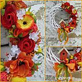 Dekorácie - Jarný veniec na dvere - 5051919_