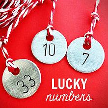 Kľúčenky - LUCKY # NUMBERS veľkosť 18mm / 22,5mm - 5056835_