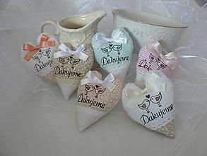 Darčeky pre svadobčanov - srdiečka  - farebná variácia na želanie - 5053624_