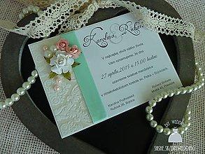 Papiernictvo - Svadobné oznámenie Fleurs - 5056249_