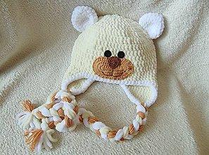 Detské čiapky - Plyšový méďa :) - 5053246_