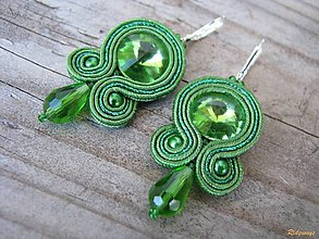 Náušnice - Simple...soutache (Green) - 5054597_