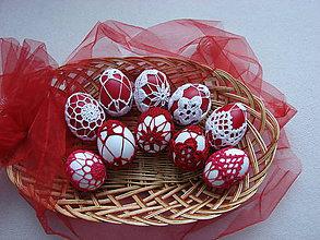 Dekorácie - veľkonočné vajíčka červené - 5053241_