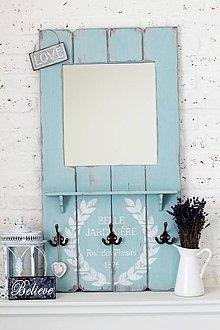 Zrkadlá - zrkadlo s vešiačikmi ARLENE BLUE - 5053932_