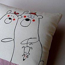 Úžitkový textil - CO VĚDÍ MEDVĚDI - polštář - 5053562_