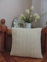 Úžitkový textil - Smotanový vankúšik - 5055192_