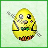 Papier - Veľkonočné vajíčko - ako kuriatko - NA ZÁKAZKU - 5054101_