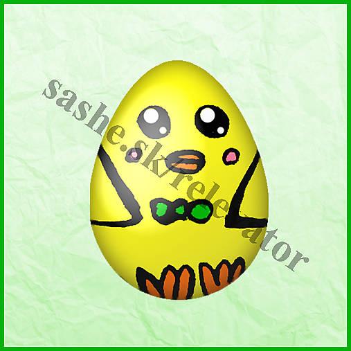 Veľkonočné vajíčko - ako kuriatko - NA ZÁKAZKU