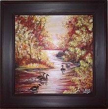 Obrazy - Jesenná riečka II. - 5057854_