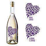 Darčeky pre svadobčanov - Vyrezávané svadobné etikety Flying Hearts - 5058540_