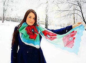 Šály - Šál Vlčie maky - 5061086_