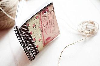 Papiernictvo - Ružičkový zápisník - 5059660_