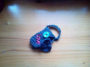 Iné tašky - Lobelko ukryté v kapsičke pripnuté na klúče - 5059886_