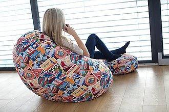 Nábytok - Dizajnový sedací vak TAKOY 3XL+podnožka zdarma poťah 361 - 5060741_