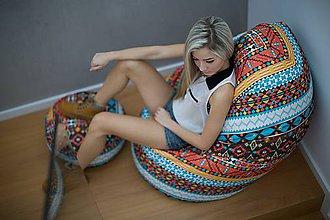 Nábytok - Dizajnový sedací vak TAKOY 3XL+podnožka zdarma poťah 124 - 5060790_