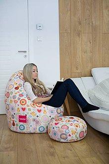 Nábytok - Dizajnový sedací vak TAKOY 3XL+podnožka zdarma poťah 340 - 5060896_