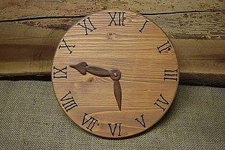 Hodiny - Drevené hodiny (č.3) - 5061894_