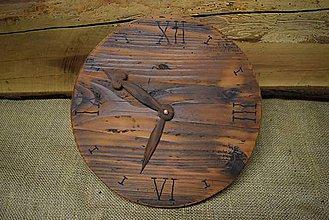 Hodiny - Drevené hodiny (č.9) - 5061981_