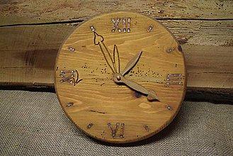 Hodiny - Drevené hodiny (č.11) - 5061997_