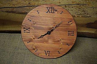 Hodiny - Drevené hodiny (č.13) - 5062034_