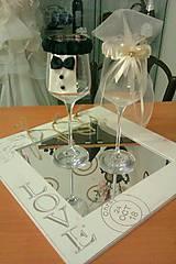 Svadba - ozdoby na svadobné poháre  - 5060534_
