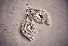 Náušnice - Svadobné šujtášové náušnice  (Ružová) - 5060037_