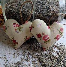 Dekorácie - Srdiečko s levanduľou  (ružičkové) - 5059713_