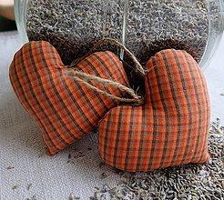Dekorácie - Srdiečko s levanduľou  (kanafasové) - 5059743_