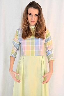 Šaty - Pastelkami vyfarbené šaty - 5058348_