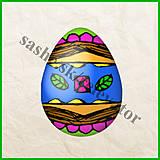 Papier - Veľkonočné vajíčko - zvláštne motívy - NA ZÁKAZKU - 5058098_