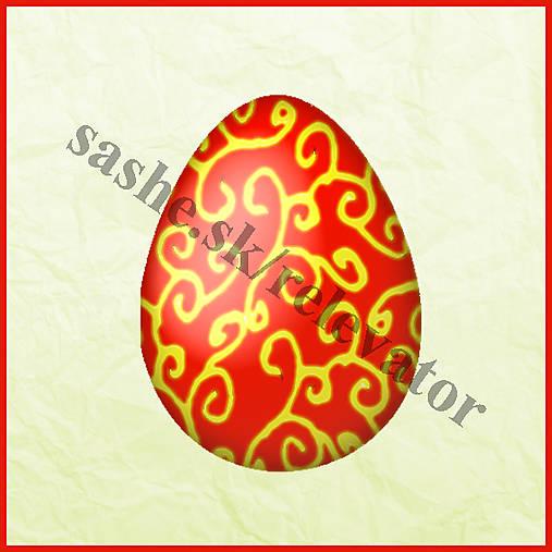 Veľkonočné vajíčko - ornamentové 2 - NA ZÁKAZKU