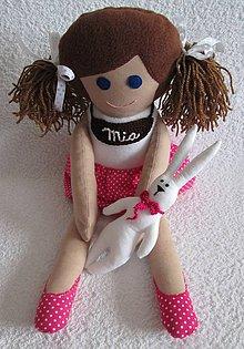 Hračky - bábika Mia so zajkom - 5064351_