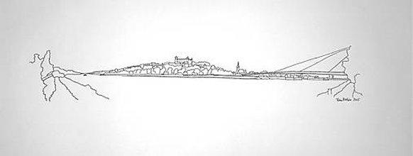 Kresby - Bratislava 2 tušom - 5063280_
