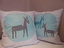 Úžitkový textil - kone na lúke - 5063931_