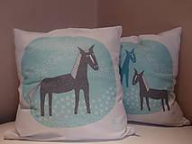 Úžitkový textil - kone na lúke - 5063965_