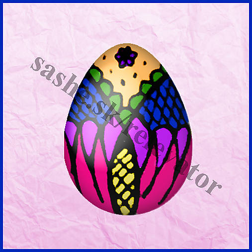 Veľkonočné vajíčko - kraslica - NA ZÁKAZKU