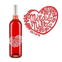 Darčeky pre svadobčanov - Svadobné víno - 5070980_