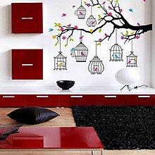 Dekorácie - (3365f) Nálepky na stenu - Veselý konárik - 5067773_