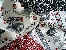 Textil - FQ balíček Poulets de Provence - posledný set v ponuke - 5067059_