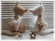Dekorácie - Bielo-hnedá mačička - 5069274_