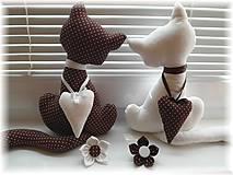 Dekorácie - Bielo-čokoladová mačička - 5069300_