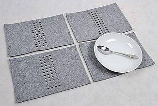 Úžitkový textil - Filcová podložka pod tanier - 5067941_