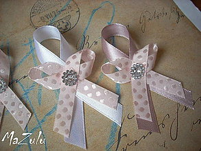 Pierka - svadobné pierko s puntíkmi - 5067220_